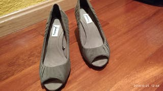 zapato verde mujer