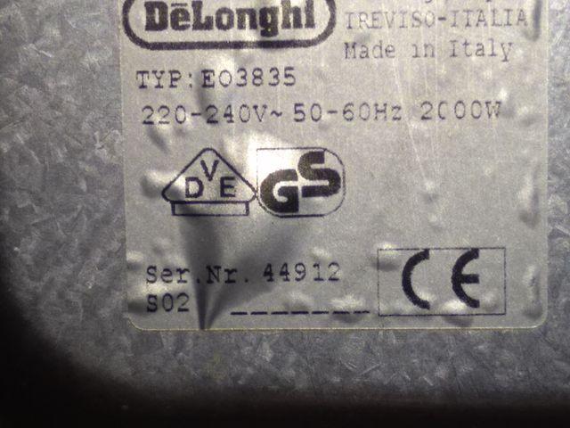 Horno eléctrico 2000 vatios Delonghi