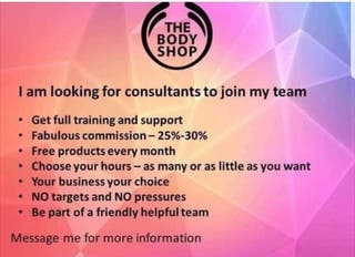 RECRUITING - THE BODY SHOP AT HOME