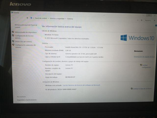 Tablet Lenovo con teclado