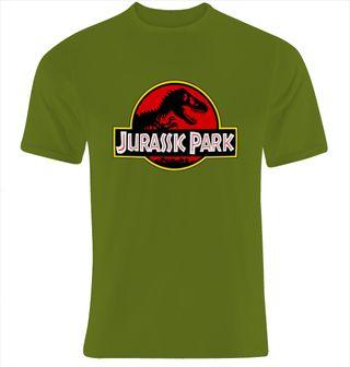 Camiseta pelicula logo JURASSIK PARK nueva