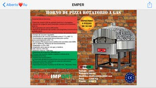 Horno de pizza rotatorio a gas