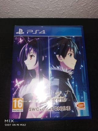 Nuevo Accel world vs Sword art online PS4