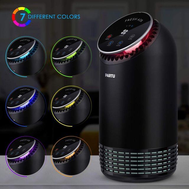 Purificador de Aire Filtro HEPA Iluminacion LED