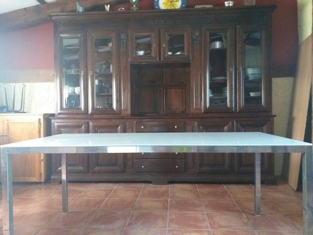 Mesa cristal comedor ikea de segunda mano por 100 € en ...