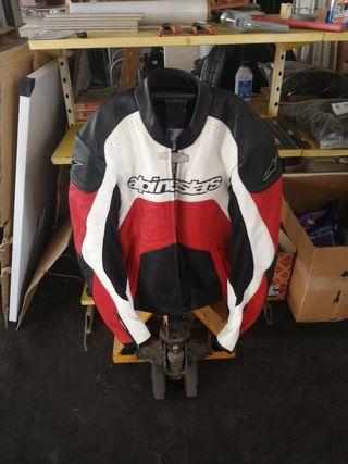 chaqueta de moto Alpinestars cuero