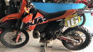 Moto enduro ktm 250 2t matriculada del 98