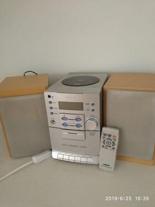 Mini cadena de música, CD, radio y caset