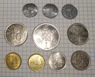 Lote 10 monedas mundial 82