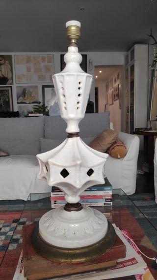 vendo preciosa antig lámpara de porcelana antigua