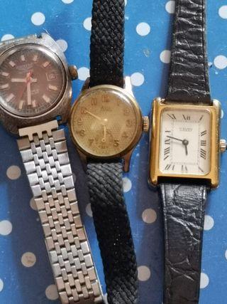 lote de relojes antiguos funcinando