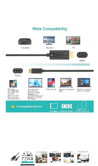 Cable conexión tipo c a HDMI