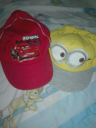 lote gorras de niño