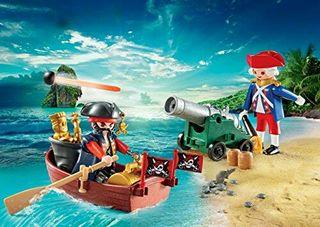 Playmobil maletín grande de piratas y soldados