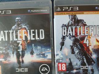 lote Battlefield 3 y 4 ps3