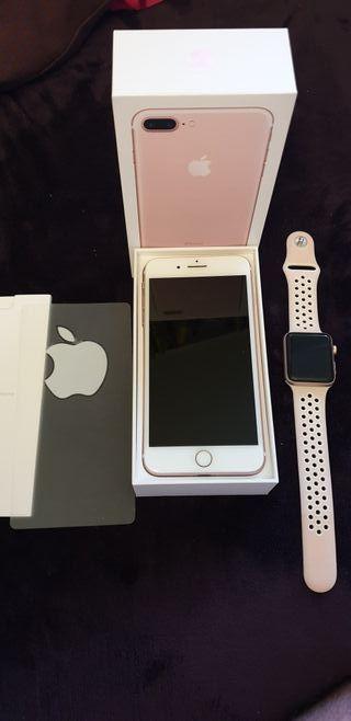 Apple Iphone 7 Plus Oro Rose + Apple Watch Serie 3