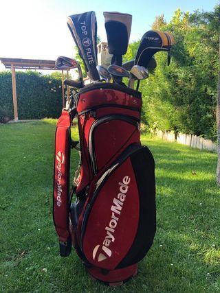 bolsa más palos de golf
