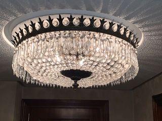 Lámparas de cristales con bronce