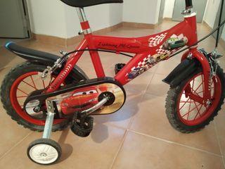 Bicicleta infantil de Rayo McQueen 14''