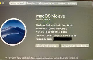 "MacBook 12"" con pantalla de retina"