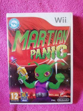 Martian Panic Wii nuevo precintado