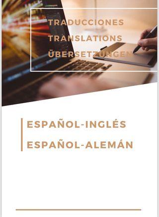 Traducción español-inglés / español-alemán