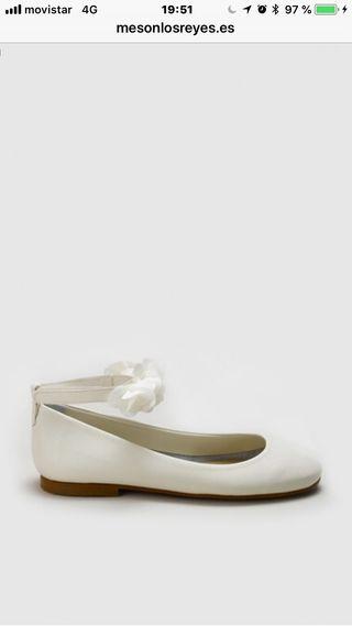 Zapatos ceremonia Niña Tizas