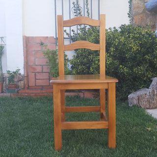 silla madera comedor