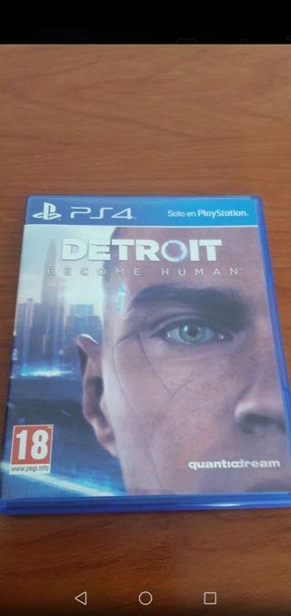 juego ps4 Detroit como nuevo.