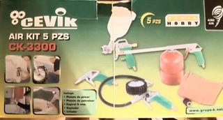 kit aerográfico para compresor sin estrenar