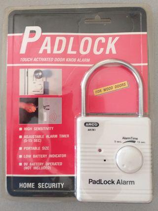 Candados con alarma para puertas