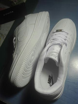 Zpt Nike Air Force One. Tallas 35 45. Color Todo Blanco.