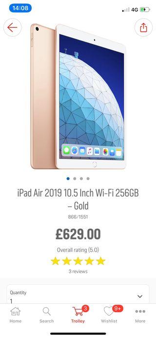 Aipad air 2019 GOLD 256GB 10.5 inch
