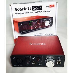 Tarjeta de sonido Focusrite Scarlett solo 2gen