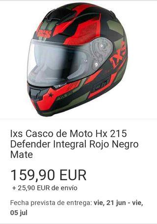 Casco policarbonato IXS HX 215 integral