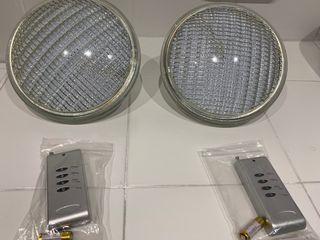 2 lámparas PAR 56 LED RGB piscinas
