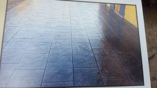 Pavimentos impresos de suelos i paredes