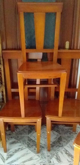 sillas +mesa