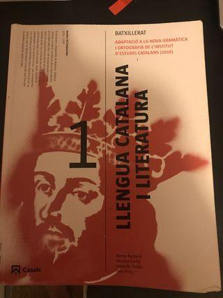 Libro de catalán primero de bachillerato.