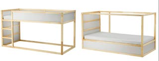 KURA Cama reversible IKEA, blanco, pino, 90x200 cm
