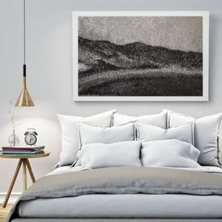 Sparkling canvas abstract painting