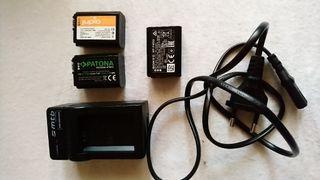 cargador y baterías para Sony a7 ll