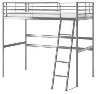 Estructura cama alta, gris plata, 90x200 cm SVÄRTA