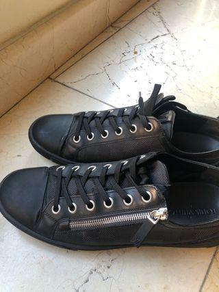 Louis Vuitton graphite adventure zip-up sneakers