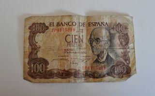 BILLETE 100 PESETAS FALLA