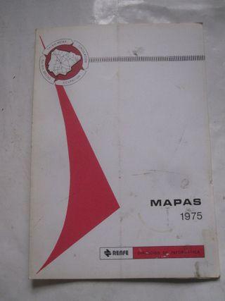 Mapas 1975 RENFE trenes Dirección de Informática