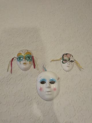 Máscaras porcelana.