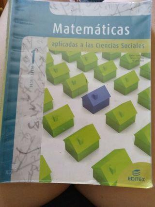 libro Dee matemáticas 1°bach de ciencias sociales