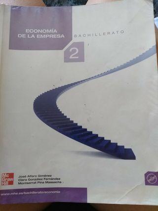 libro de economía de la empresa de 2° bach