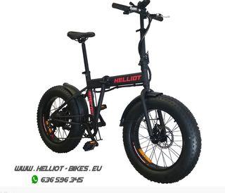 Fat bike plegable eléctrica Helliot Moscu